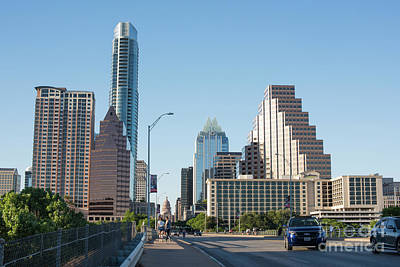 Austin Texas City Skyline During Day Art Print by Juli Scalzi