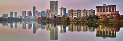 Photograph - Austin Texas Colorful Pano by Frozen in Time Fine Art Photography