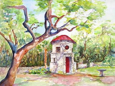 Painting - Austin Texas Mayfield Park by CarlinArt Watercolor