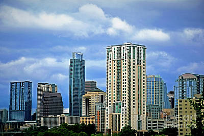 Photograph - Austin Texas Skyline 1-12 by Ray Shrewsberry