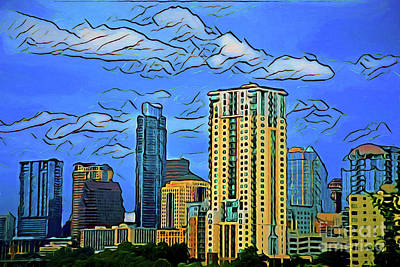 Photograph - Austin Texas Skyline 16518 by Ray Shrewsberry