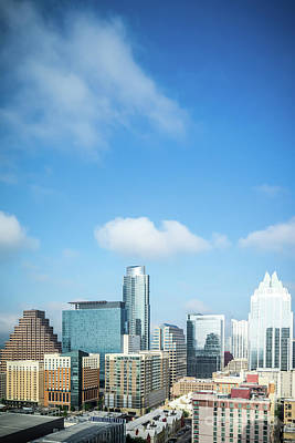 Space Travel Photograph - Austin Texas Skyline Cityscape Photo by Paul Velgos