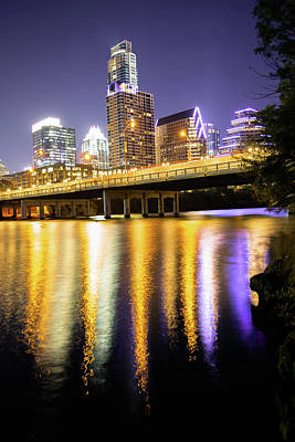 Photograph - Austin Texas Skyline Under Twilight Skies by Gregory Ballos