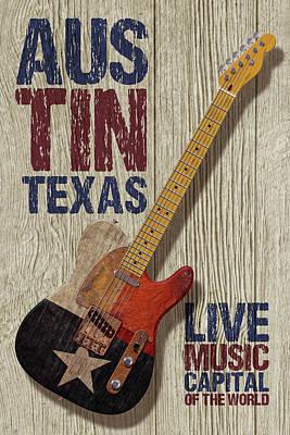 Digital Art - Austin Texas by WB Johnston