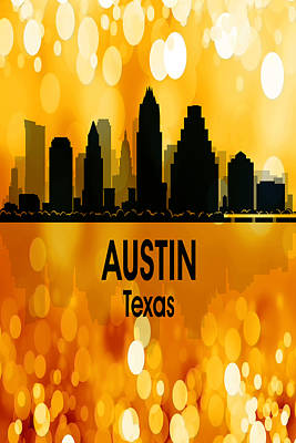 Digital Art - Austin Tx 3 Vertical by Angelina Vick