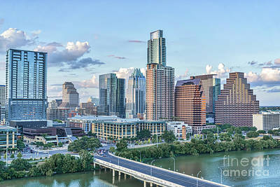 Austin Skyline Photograph - Austin Uptown Sky View by Tod and Cynthia Grubbs