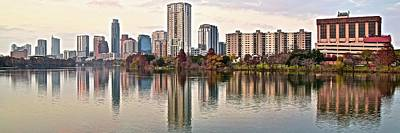 Lady Bird Lake Photograph - Austin Wide Shot by Frozen in Time Fine Art Photography
