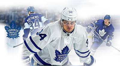 Toronto Maple Leafs Digital Art - Auston Matthews  by Nicholas Legault