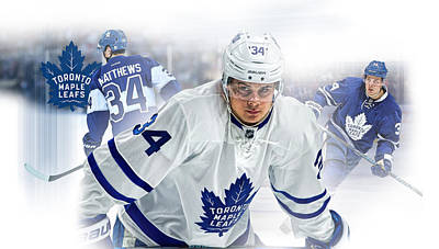 Toronto Maple Leafs Digital Art - Auston Matthews Phone Case by Nicholas Legault