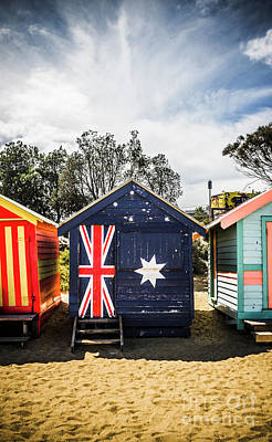 Australia Bathing Boxes Art Print