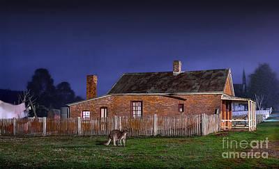 Australia By Night Art Print by Russ Brown