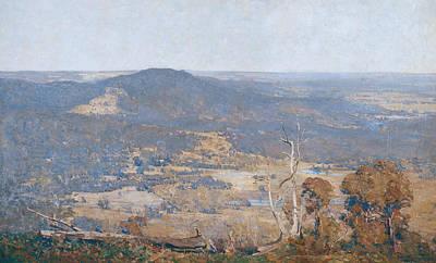Australian Landscape Painting - Australia Felix  by Arthur Streeton