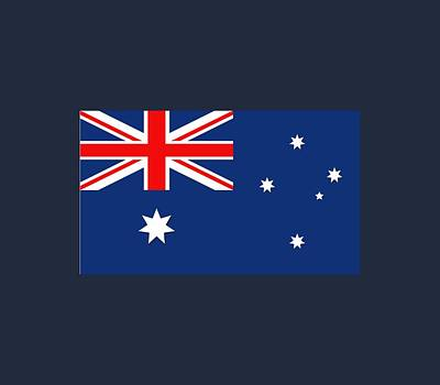 Red Digital Art - Australia Flag by Marco Livolsi