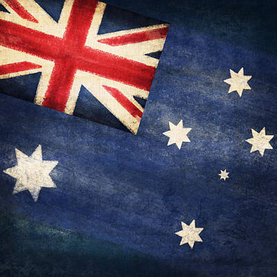 Stained Photograph - Australia  Flag by Setsiri Silapasuwanchai
