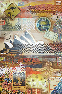 One Continent Mixed Media - Australia by Leigh Banks