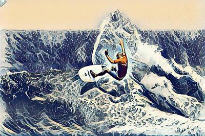 Australia Digital Art - Australia Surfer 2 by Victor Arriaga