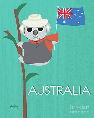 Koala Digital Art - Australia, Vertical Skyline by Karen Young