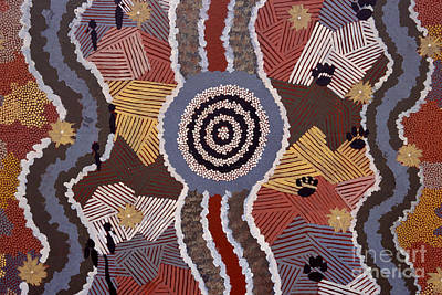 Photograph - Australian Aboriginal Dot Painting by William D. Bachman