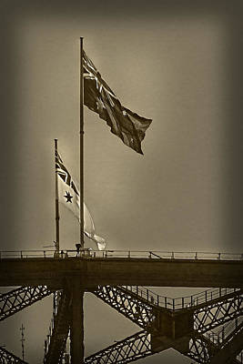 Photograph - Australian And Navy Flag On Top Of Harbour Bridge by Miroslava Jurcik