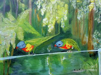 Painting - Australian Birds by Paula Maybery