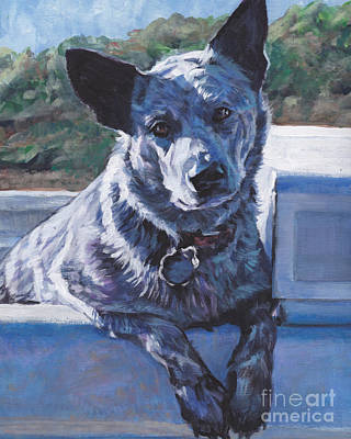 Blue Heeler Painting - Australian Cattle Dog Blue Heeler by Lee Ann Shepard
