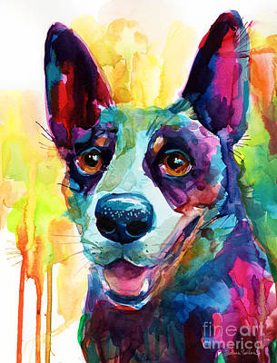Blue Heeler Painting - Australian Cattle Dog Heeler by Svetlana Novikova