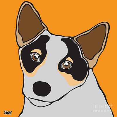 Cattle Dog Digital Art - Australian Cattle Dog by Ness Lau