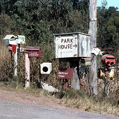 Photograph - Australian Country Mailboxes by Rick Piper Photography