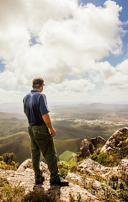 Terrain Photograph - Australian Explorer Sightseeing Mt Zeehan by Jorgo Photography - Wall Art Gallery