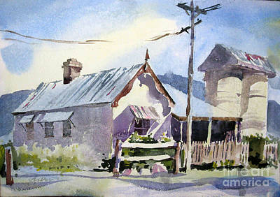 Painting - Australian Farmhouse by John Byram