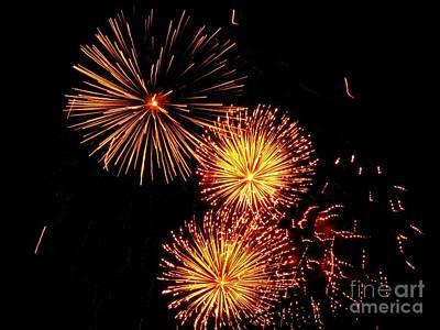 Photograph - Australian Fireworks In Montreal 01 by Ausra Huntington nee Paulauskaite