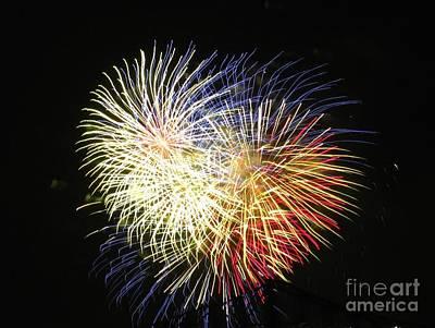 Photograph - Australian Fireworks In Montreal 02 by Ausra Huntington nee Paulauskaite