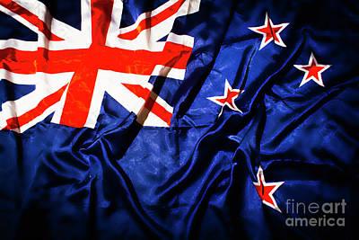 New Zealand Photograph - New Zealand Flag Art by Jorgo Photography - Wall Art Gallery