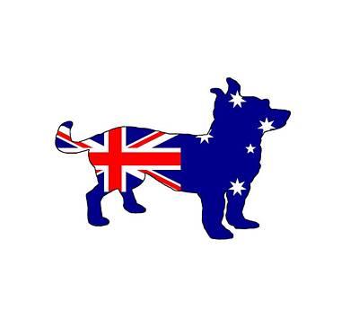 Chihuahua Digital Art - Australian Flag - Chihuahua by Mordax Furittus