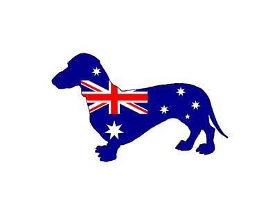 Australian Flag - Dachshund Art Print