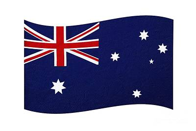 Photograph - Australian Flag Waving Png By Kaye Menner by Kaye Menner
