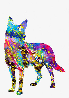 Australian Kelpie-colorful Art Print