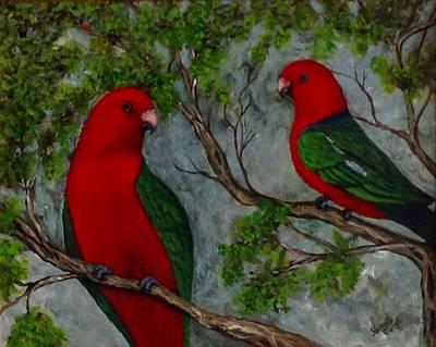 Painting - Australian King Parrot by Renate Voigt
