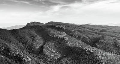 Photograph - Australian Mountains Black And White by Tim Hester