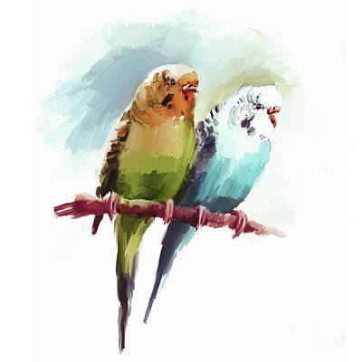 Painting - Australian Parrots 03 by Gull G