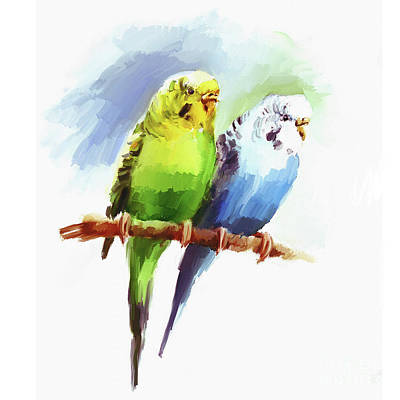 Painting - Australian Parrots by Gull G
