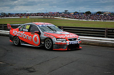 Australian Ford Photograph - Australian Racing Car Driver Jamie Whincup by Cheryl Hall