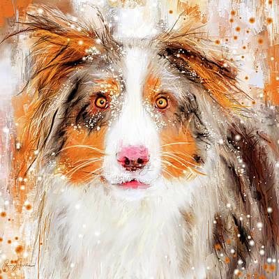 Painting - Australian Shepherd Paintings by Lourry Legarde