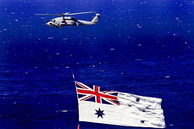 Photograph - Australian  White Ensign Over Sydney Harbour by Miroslava Jurcik