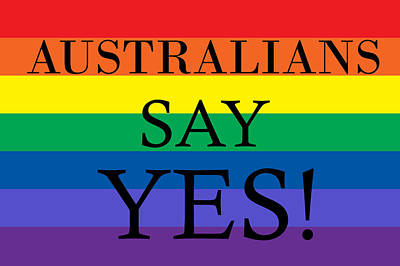 Australian Photograph - Australians Say Yes by Andrew Hunt