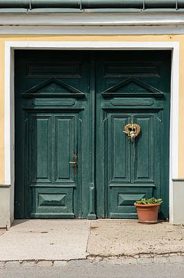 Photograph - Austria Traditional Village House Door by Menega Sabidussi