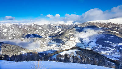 Photograph - Austrian Alps Aerial Snowy View by Brch Photography