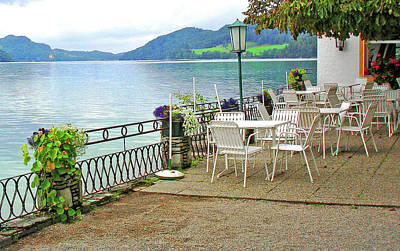 Photograph - Austrian Cafe On The Lake by Kathy Kelly