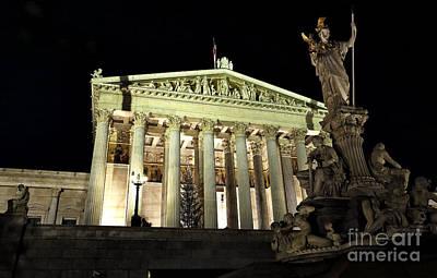 Photograph - Austrian Parliament by John Rizzuto