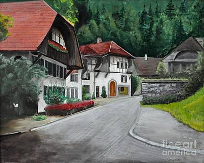 Painting - Austrian Village by John Black